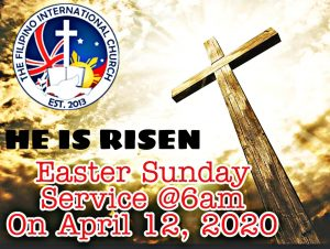 TFIC UK EASTER SUNDAY SERVICE @ TO BE CONFIRMED