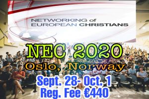 NETWORKING OF EUROPEAN CHRISTIAN (NEC) 2020 @ OSLO , NORWAY