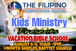 TFIC Kids Ministry Summer  Vacation Bible School 2020 @ NORTH SHIELDS BAPTIST CHURCH