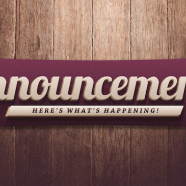 Latest Updates For our Church 2020!
